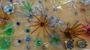 Flowers made from plastic bottles