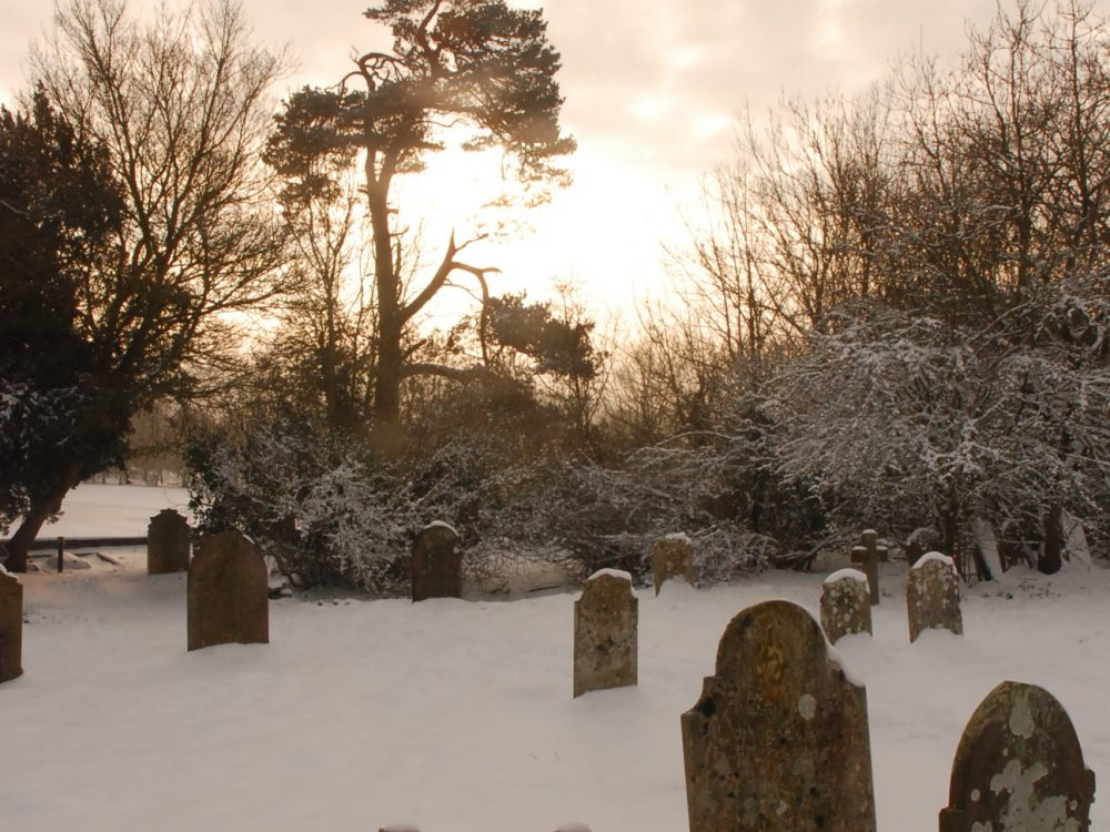 Snowy Church yard